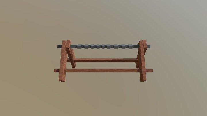 Sword Rack 3D Model