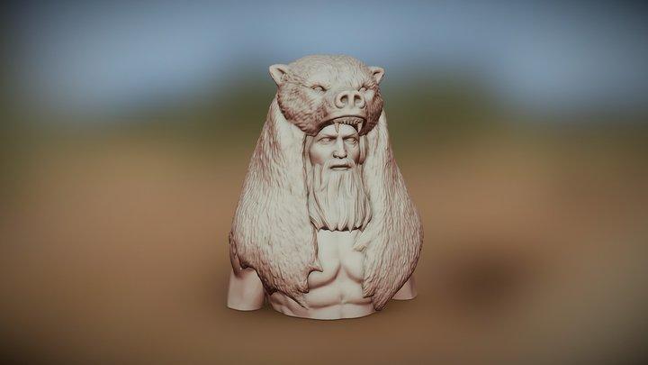 Warrior/hunter character (Zbrush sculpture) 3D Model