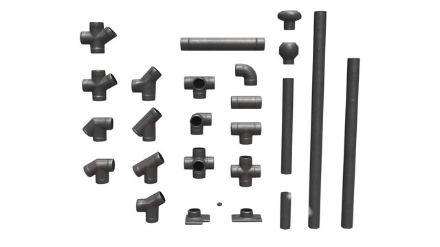 Modular Handrail Steel 3D Model
