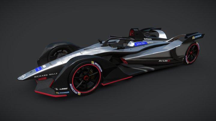 Gen 2 Formula E Nissan Car 3D Model