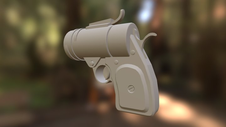 Hand Cannon 3D Model