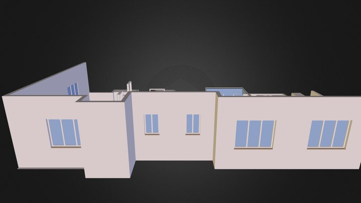 3bhk 1635 Perpsective 3D Model