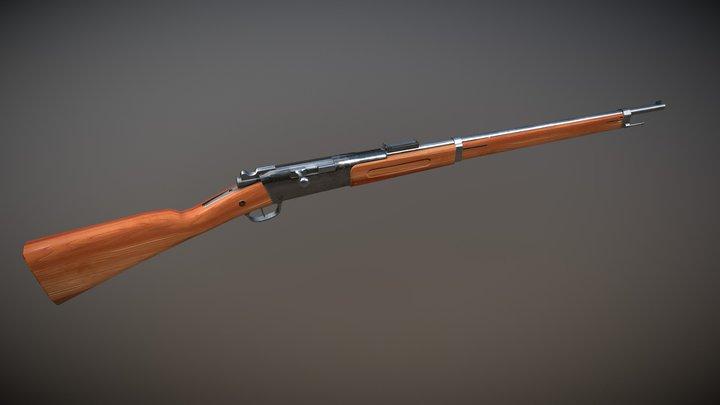 Lebel 1886 Great War Weapon 3D Model