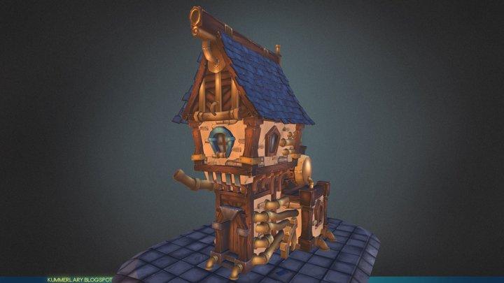 Steam House 3D Model