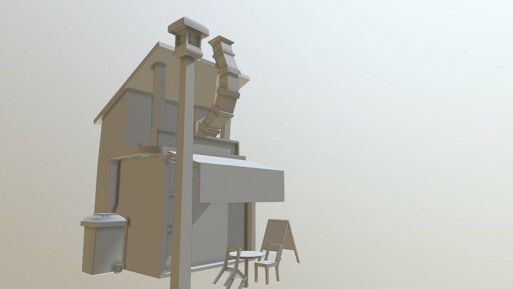 Cafe Shop 3D Model
