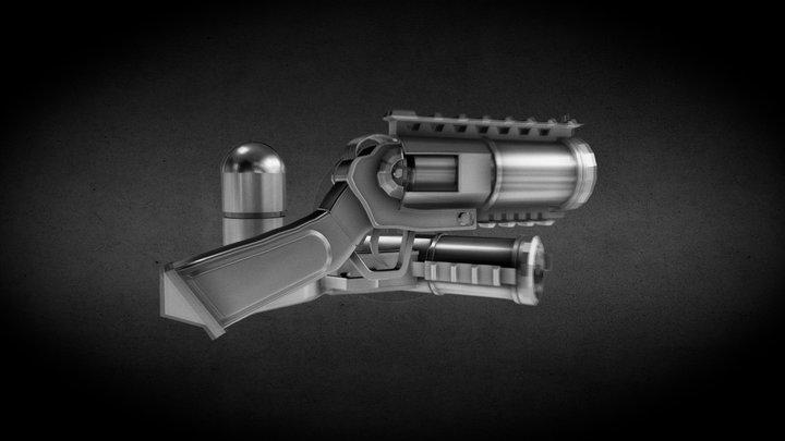 One Shot GUN 3D Model