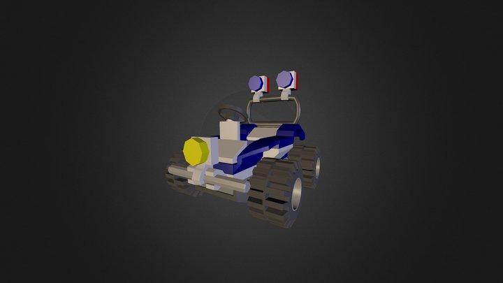 Lego Police Car 3D Model