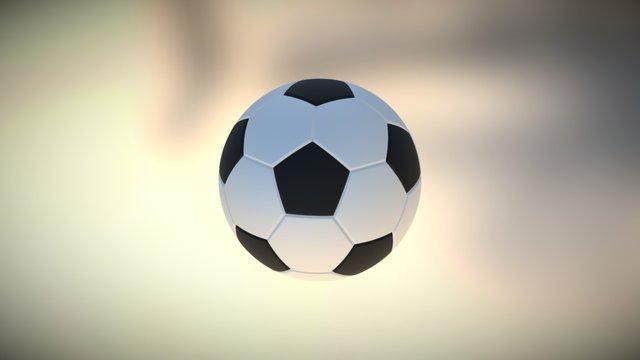 Soccer Ball (truncated icosahedron) 3D Model