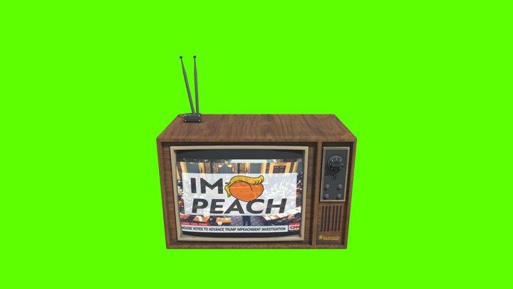 Impeachment TV set 3D Model