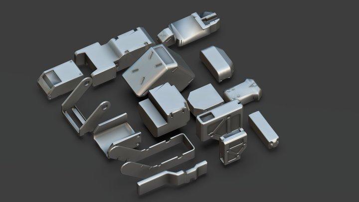 Basic Kit-Bash Vol 1 3D Model