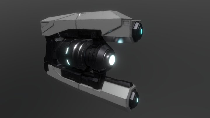 Custom Halo Infinite Armament Blaster 3D Model