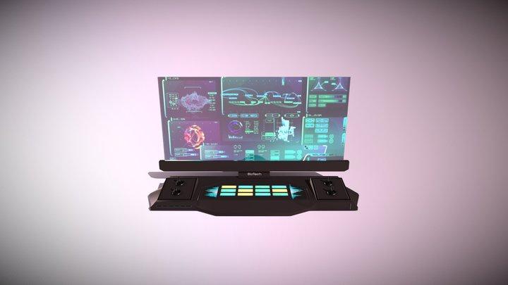 Sci-fi HUD controls 3D Model