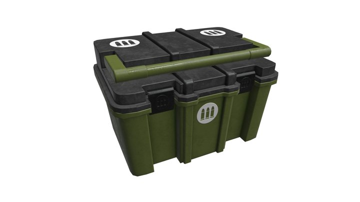 Plastic Ammo Crate Box 3D Model