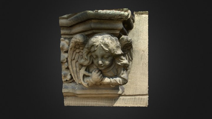 Cherub with anchor, St Andrews 3D Model