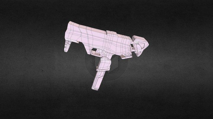 Overwatch Sombra Weapon 3D Model