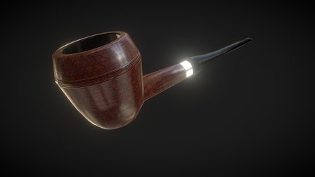 Bulldog Smoking Pipe 3D Model