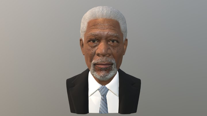 Morgan Freeman bust for full color 3D printing 3D Model