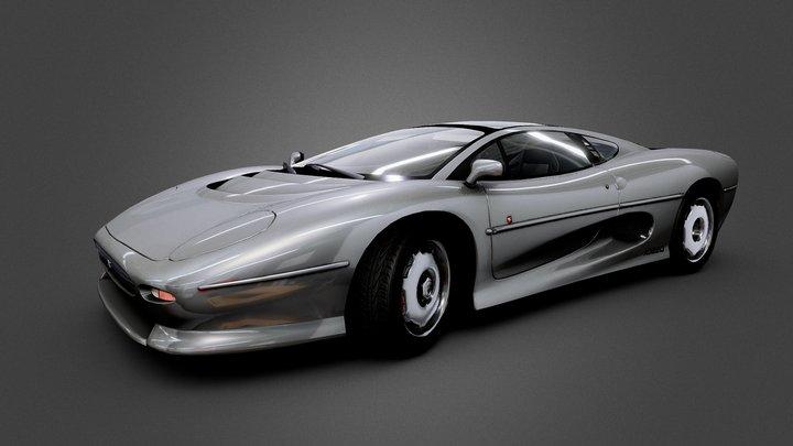 Jaguar XJ220 1991 3D Model
