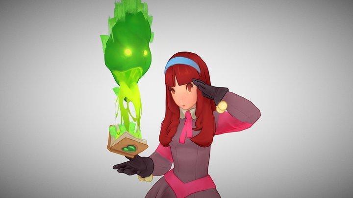 Little Witch 3D Model