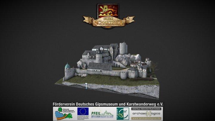 Burg Scharzfels - Modell - mobile lowres Version 3D Model