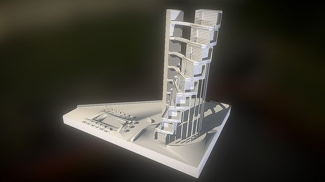 Le Cambuse Beach Resort 3D Model