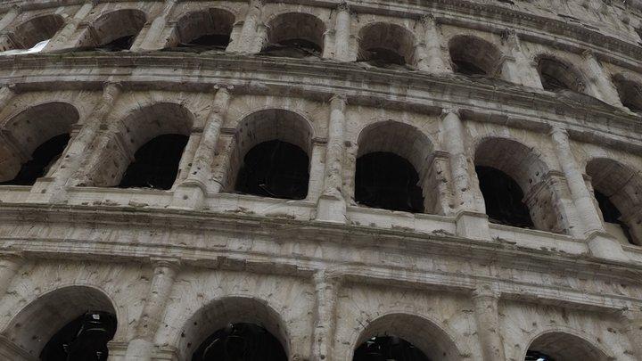 Colosseum Facade (Rome, Italy) 3D Model
