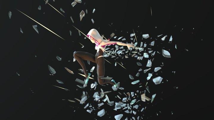 Gwen Stacy 3D Model