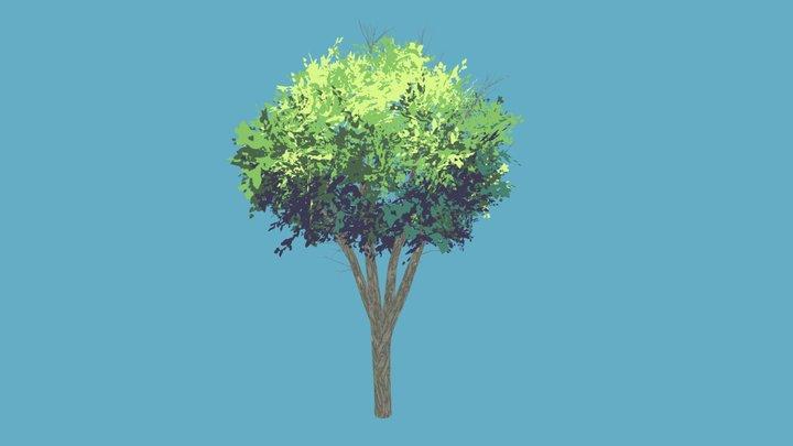 Anime Tree #1 3D Model