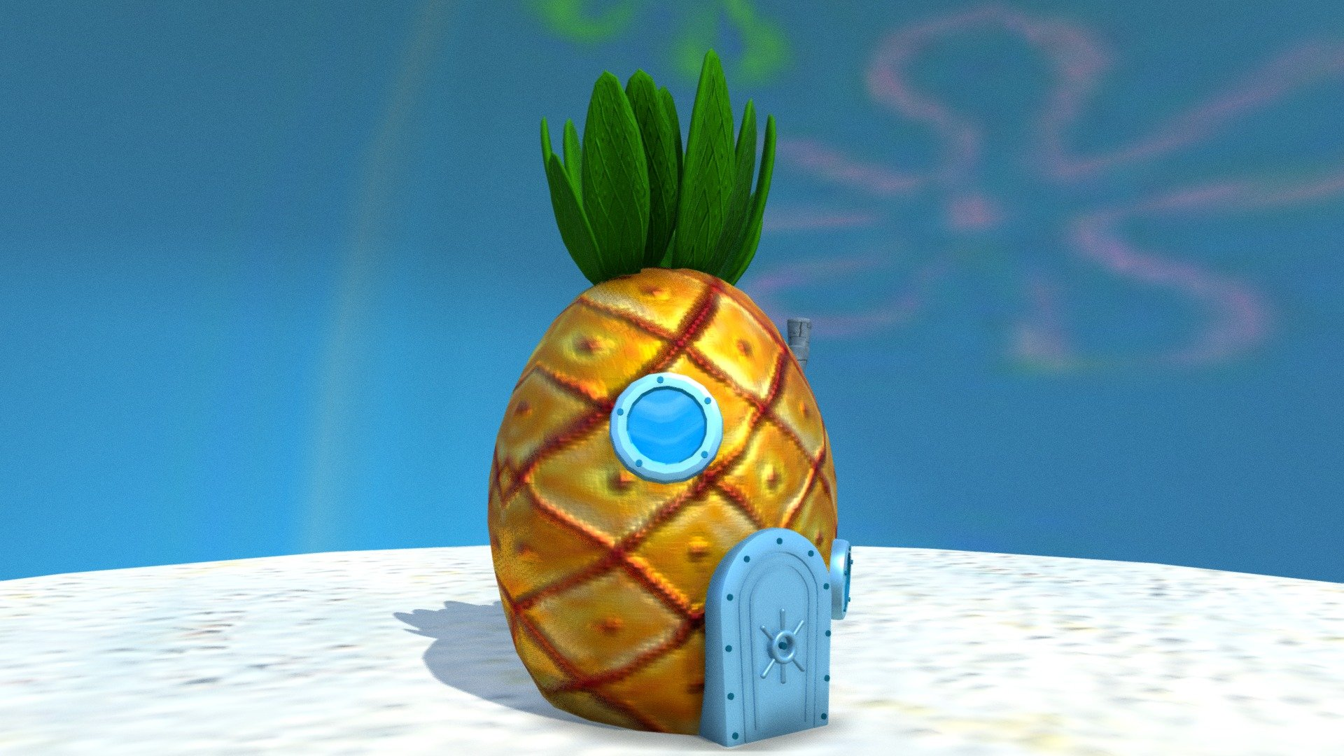 Spongebob S House Download Free 3d Model By Anthony Yanez
