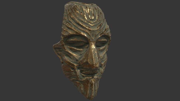 Artifact 15a: Patinated Masque, Visage of Favor 3D Model