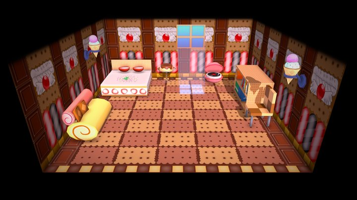 Animal Crossing Sweet Room (Hand painted fanart) 3D Model