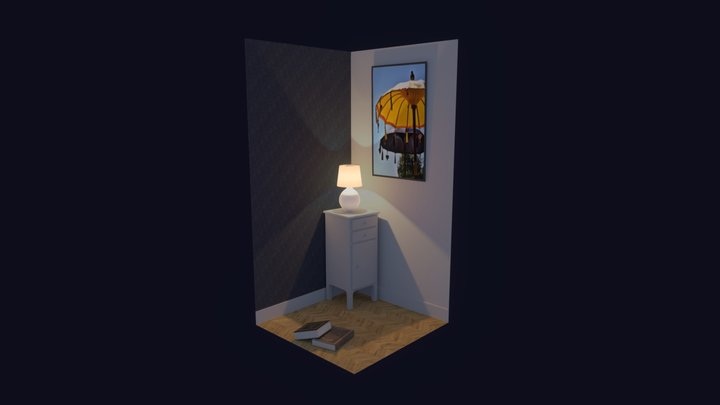 Tiny lamp corner 3D Model