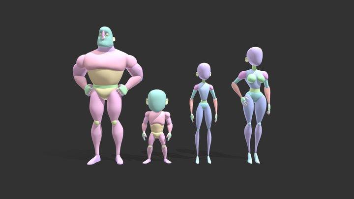 2283 - Chloe Franck - Incredibles Proportions 3D Model