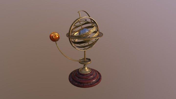 Armillary sphere (astrolabe) 3D Model