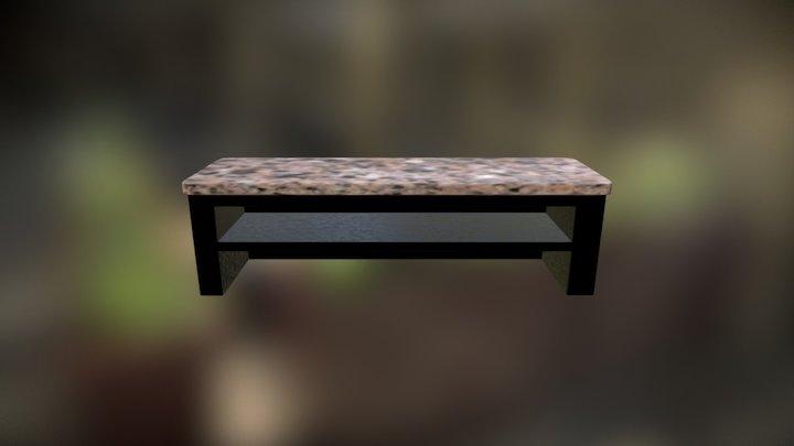 Granite Top Bar Counter 3D Model