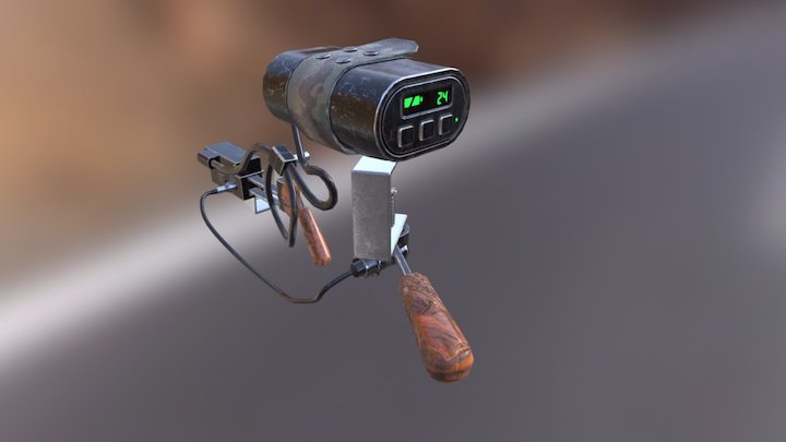 Ammo Monitor adept to Lewis Gun 3D Model