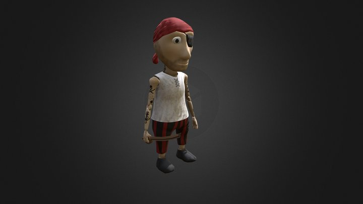 Pete The Pirate 3D Model