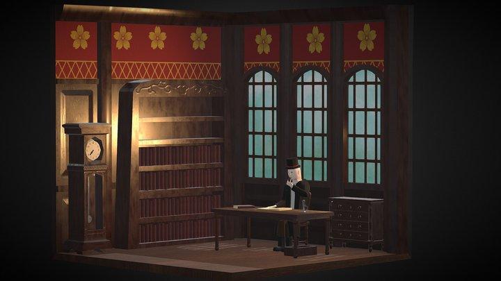 Manor Morning - Isometric Room 3D Model