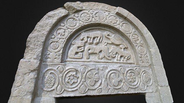 Lunetta Portale Sud_Chiesa San Giorgio 3D Model