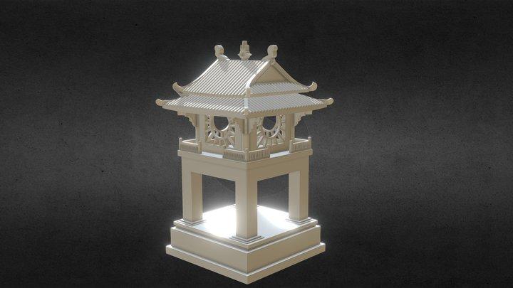 Khuê văn các 3D 3D Model