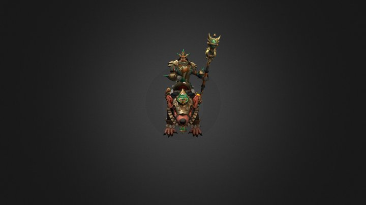 The Rat King-Сosmetics item set for Chen(Dota2) 3D Model