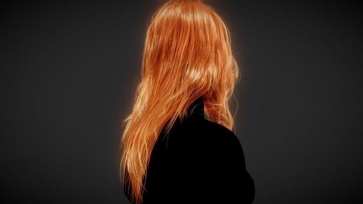 Hair model Female long 3D Model