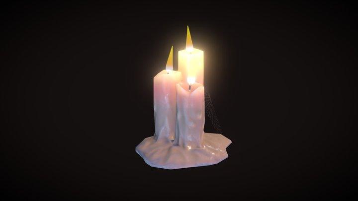 Candle light 3D Model