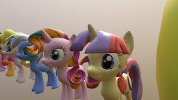 My pony charactors 3D Model