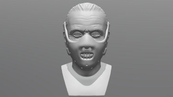 Hannibal Lecter bust for 3D printing 3D Model