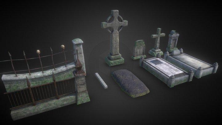Asset Graveyard (The Darkest Red) 3D Model