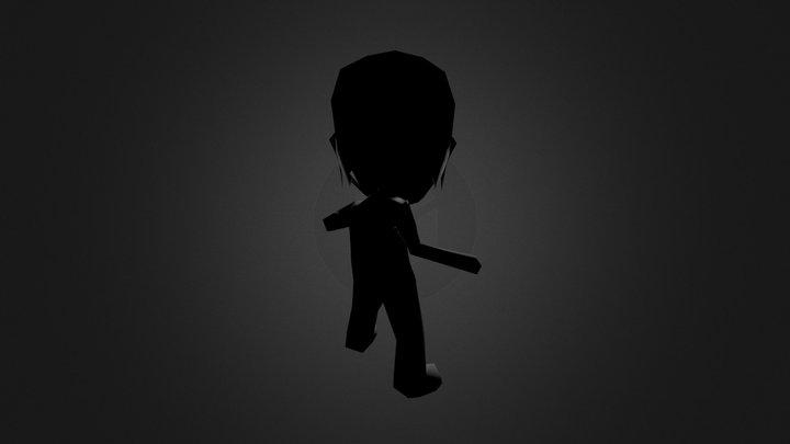 Chibi Hero Animate 3D Model