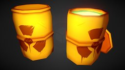 LowPoly Radioactive Waste 3D Model