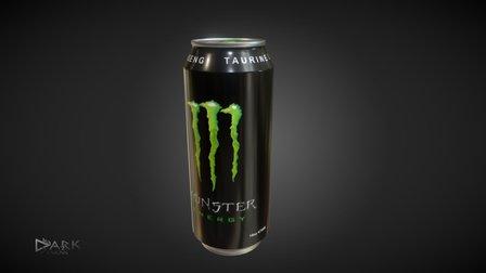Monster Energy Drink 3D Model