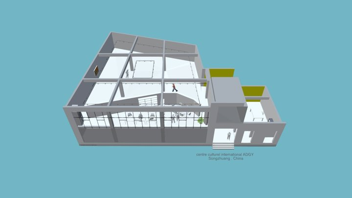 international cultural center ADGY - Songzhuang 3D Model